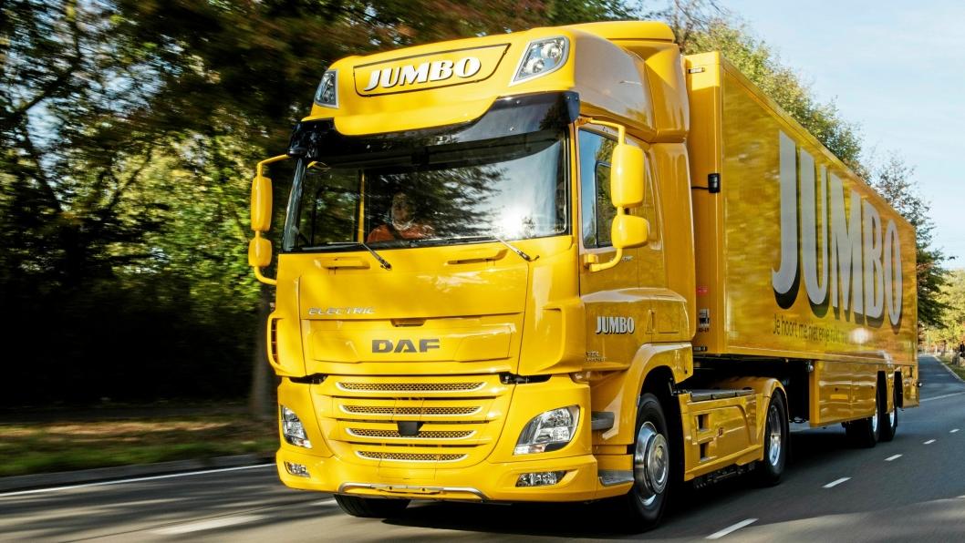 Første Daf CF electric evert til Supermarkedkjeden Jumbo i samarbeid mellom DAF og VDLFoto: Daf