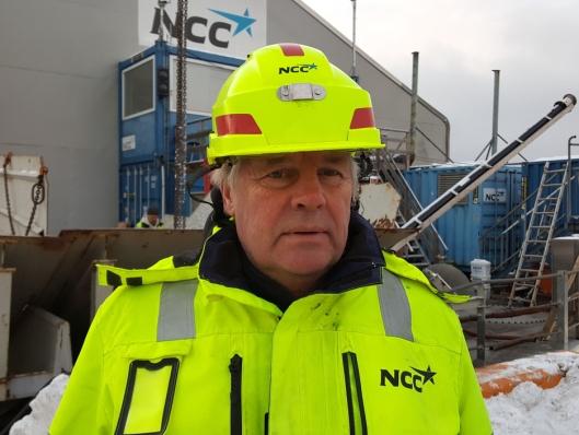 Prosjektleder i NCC, Hans Kevin.