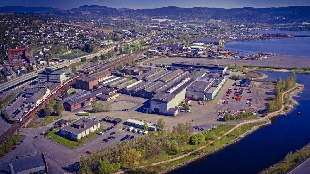 Her på Brakerøya i Drammen skal det nye sykehuset ligge.