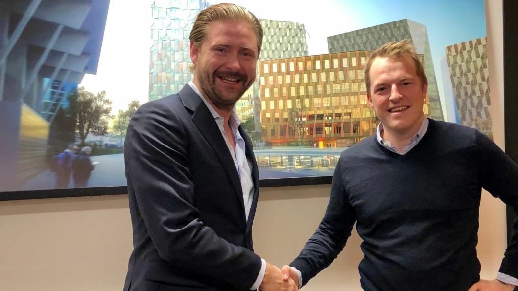 Thomas Dahle (NCC PD) og Kristian Sjøseth (4Service).