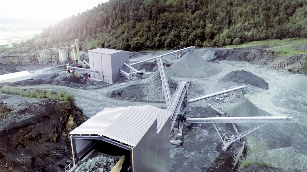 NYTT: Det nye grovknuserverket til Franzefoss Bruk Lia ble tatt i bruk august 2018.
