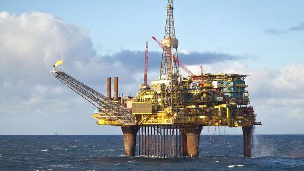 Oljeplattformen Dunlin Alpha, skal fjernes og gjenvinnes.