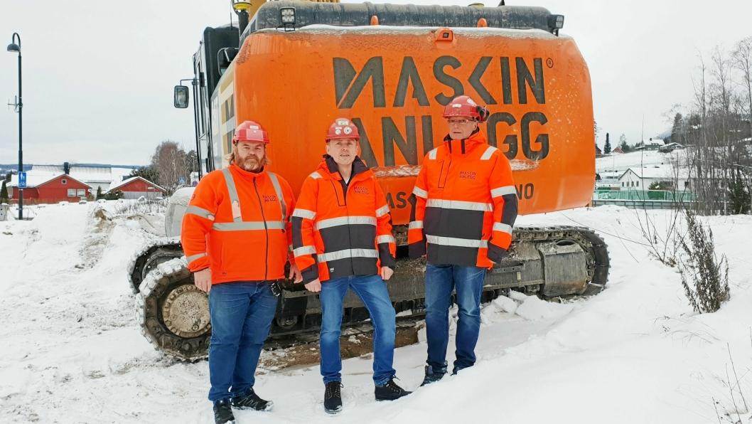 STYRKER LEDELSEN: Maskinanlegg AS i Brumunddal styrker ledelsen med Thorbjørn Gjestad (f.v.), Arne Hanssen og Trond Severinsen.