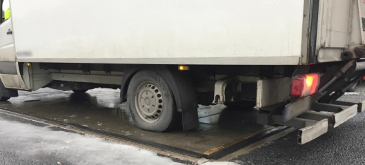 Stoppet varebil som veide 6420 kg