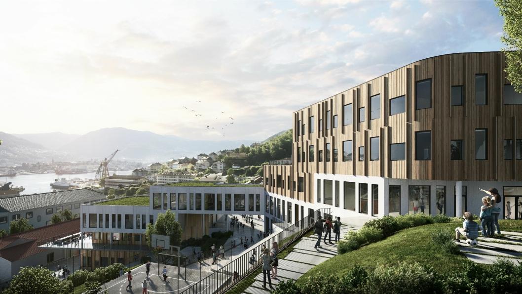 Slik blir Holen skole i Bergen.