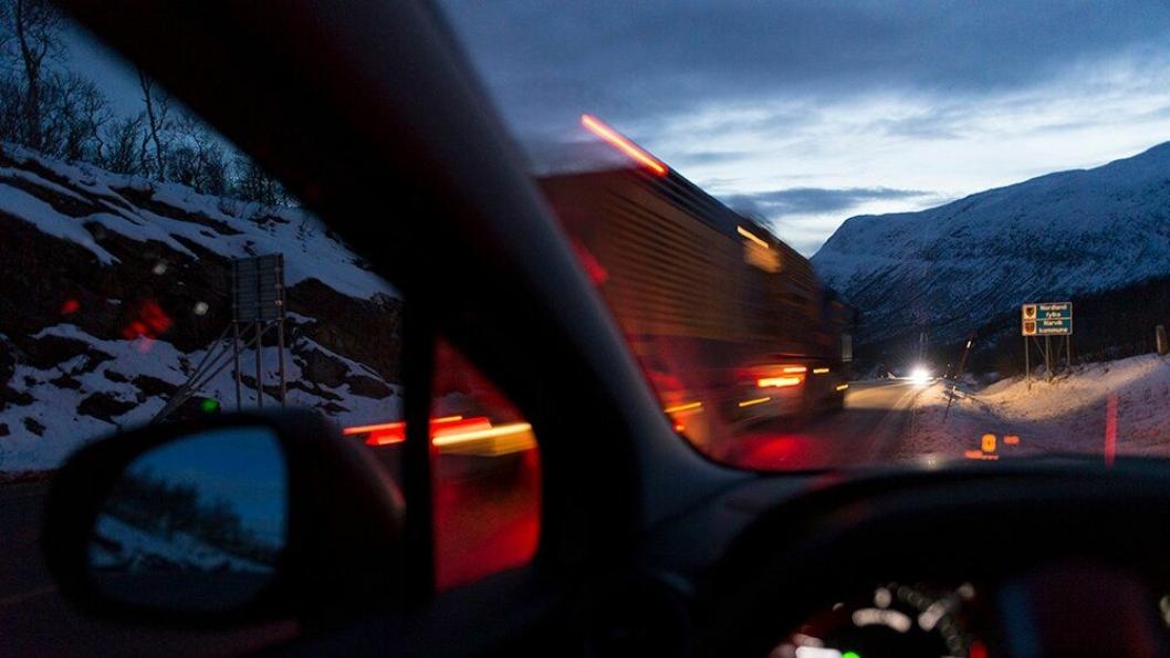 E6, fylkesgrense Troms/Nordland.