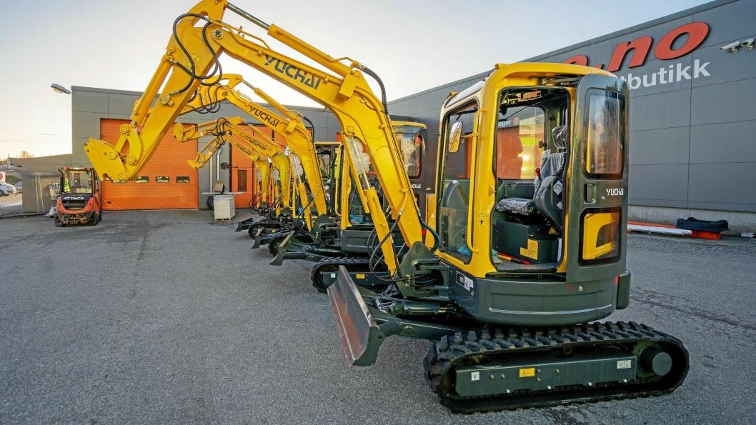 KLARE FOR SALG: Den nye importøren har allerede et solid antall maskiner på plass.