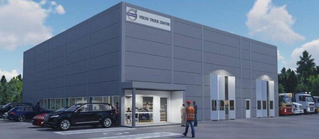 Volvo utvider og bygger nytt eget verksted på Nesbyen. Det skal åpne i løpet forsommeren.