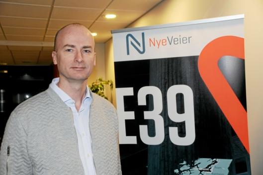 PLANEN KLAR: Prosjektdirektør Asbjørn Heieraas i Nye Veier. Foto: Nye Veier