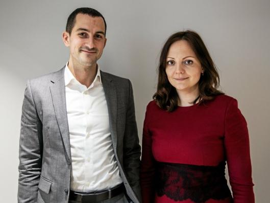 TOK TUREN: AT.no møtte kommersiell direktør Pavel Solovjovs og CFO Jana Gridasova i Kreiss i Oslo.