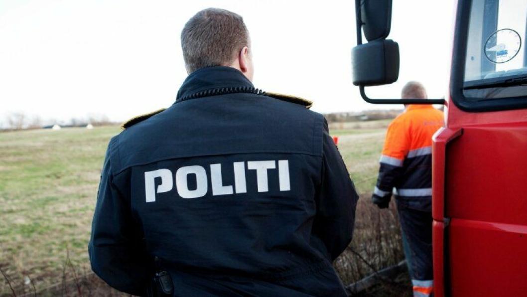 Sydøstjyllands Politi, Tungvognscenter Syd , avslørte fortynnet Adblue på en lastebil. Illustrasjonsbilde fra dansk politi.