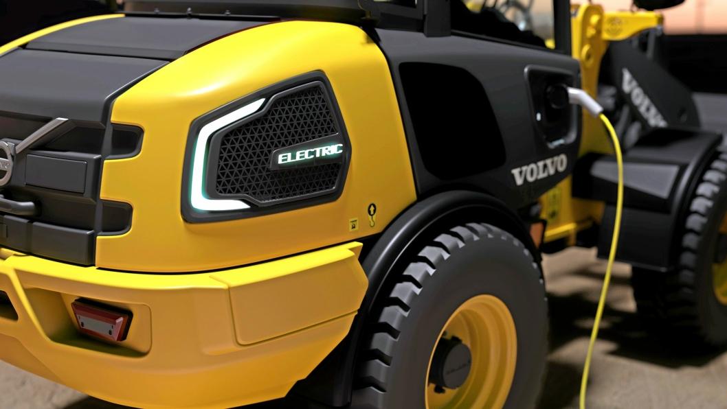 ELEKTRISK: En elektrisk hjullaster kommer åpenbart til Bauma fra Volvo CE. Ellers er produsenten sparsom med bilder av kommende nyheter.