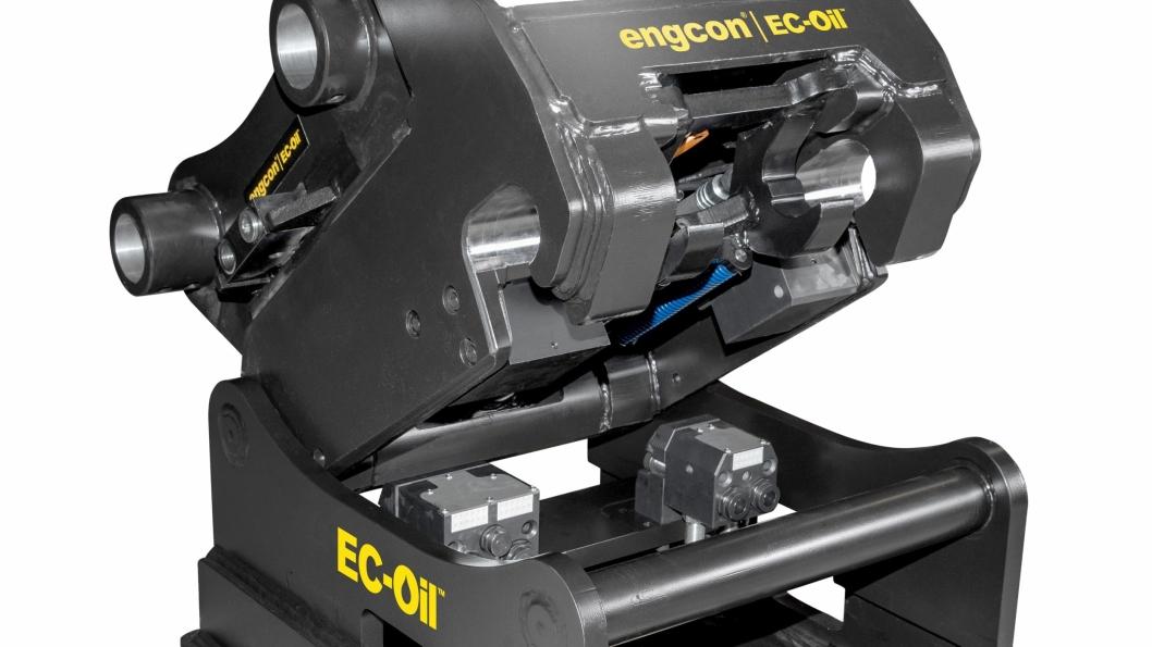Engcon tilbyr automatisk redskapsfeste for gravemaskiner opptil 40 tonn.