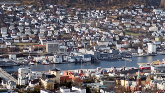 Bergen Havn. Foto: Espen Braata