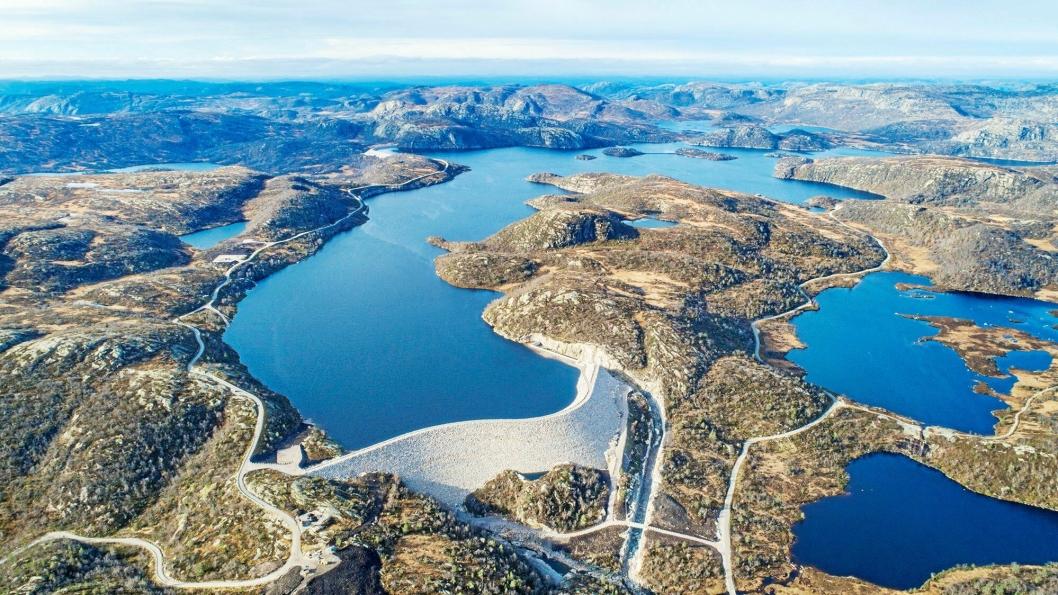 Dam Skjerkevatn i Åseral.