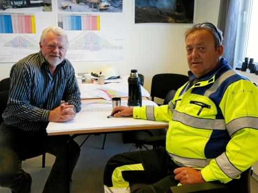 FANT TONEN: Are Eliassen (f.v) fra Skanska og Jan Einar Døvik fra TT Anlegg har både funnet tonen og arbeidsformen på damprosjektet.