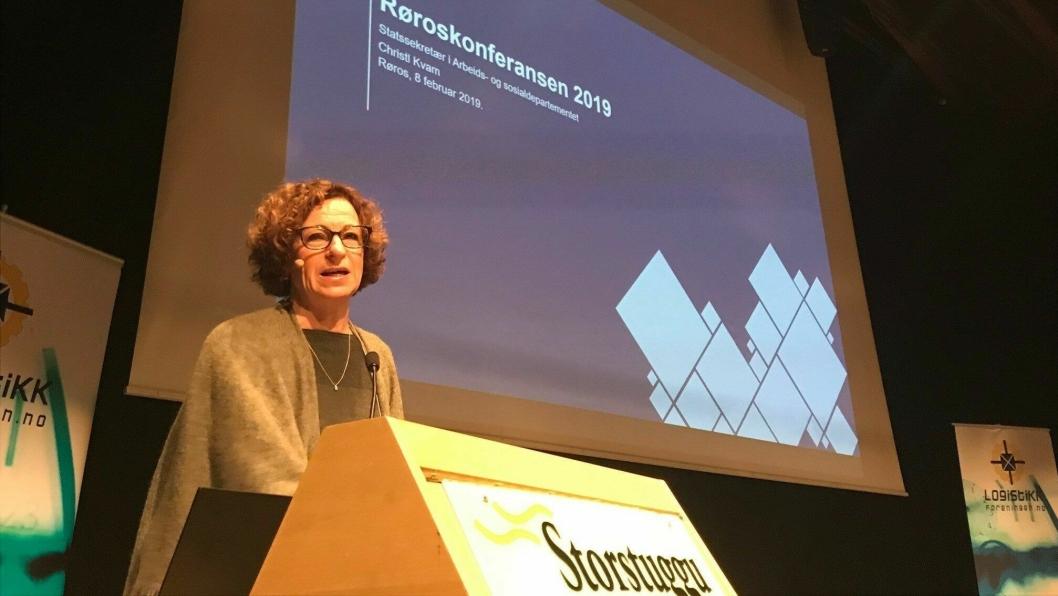 Fredag ble Røroskonferansen 2019 sparket i gang med statssekretær Christl Kvam (H) i Arbeids- og sosialdepartementet. Foto: Per Dagfinn Wolden