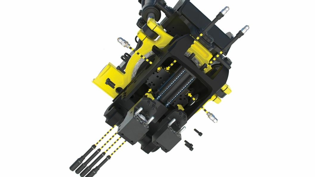 Det automatiske oljekoblingssystemet EC-Oil og hydraulikktilkoblinger for gripekassetten GRD og feievalsen SWD kan ettermonteres helt uten slanger.