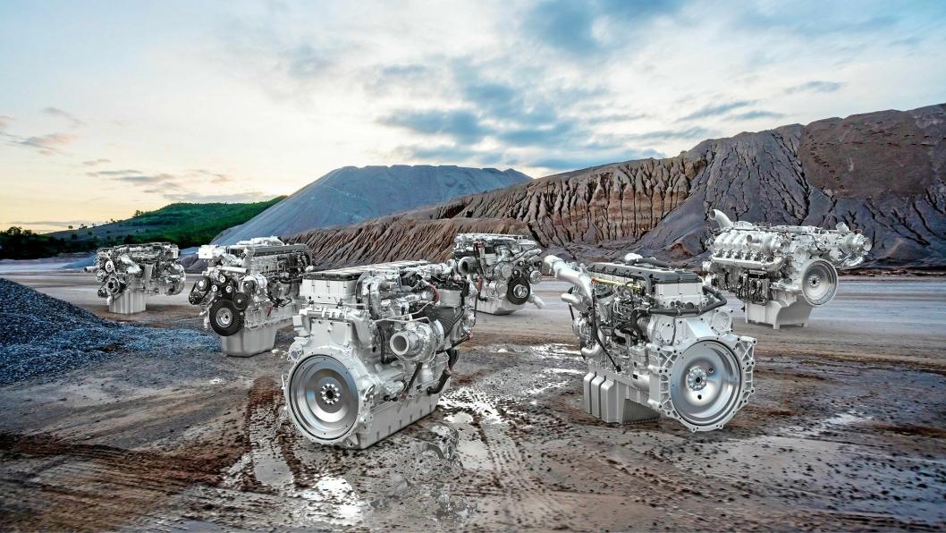 OMFATTENDE: MAN har et bredt motorprogram for anleggsmaskiner og dekker området fra 158 til 1095 hk.