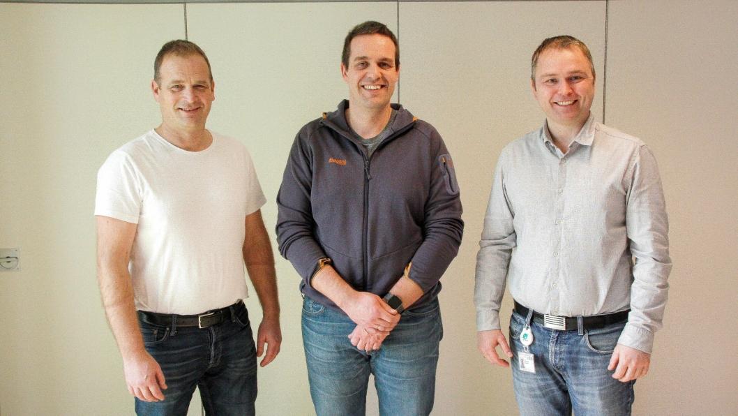 Fra venstre: Svein Atle Berge (Ølen Betong), Arve Kvåle (Høyer Odda), Lars Norekvål (Ølen Betong).