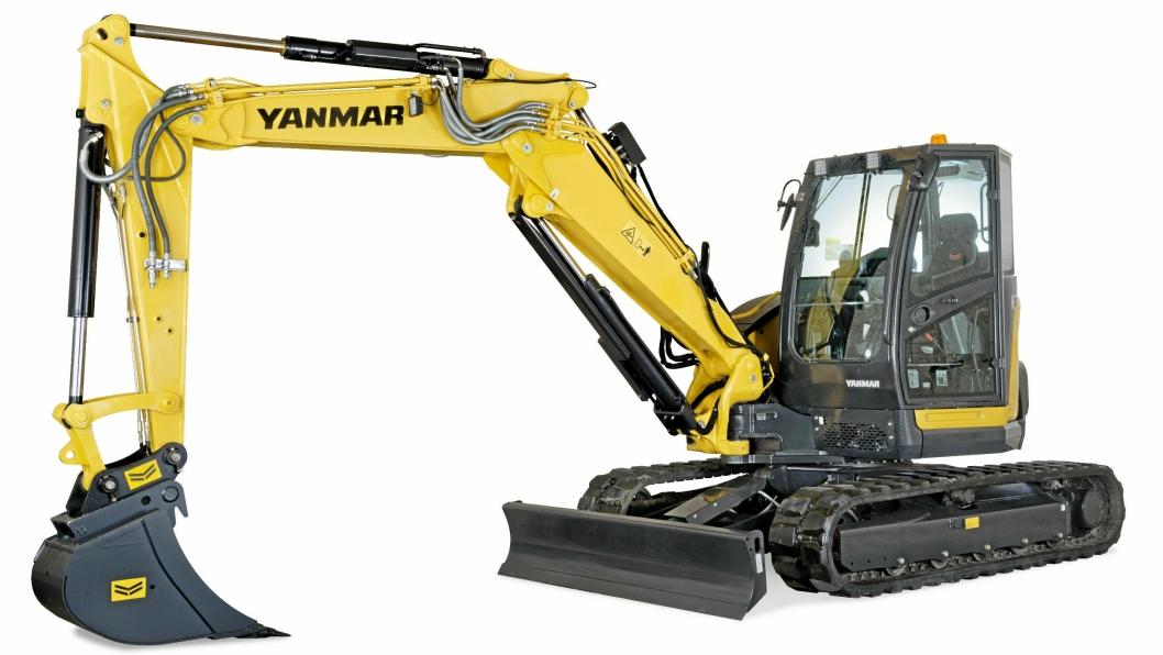 8 TONNER: Yanmar ViO80-2PB med todelt bom, nytt i denne klassen for Yanmar.