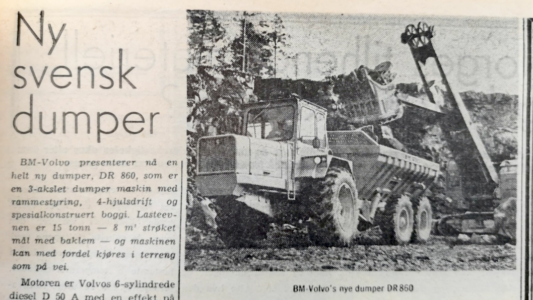 BM-Volvo's nye dumper DR 860.