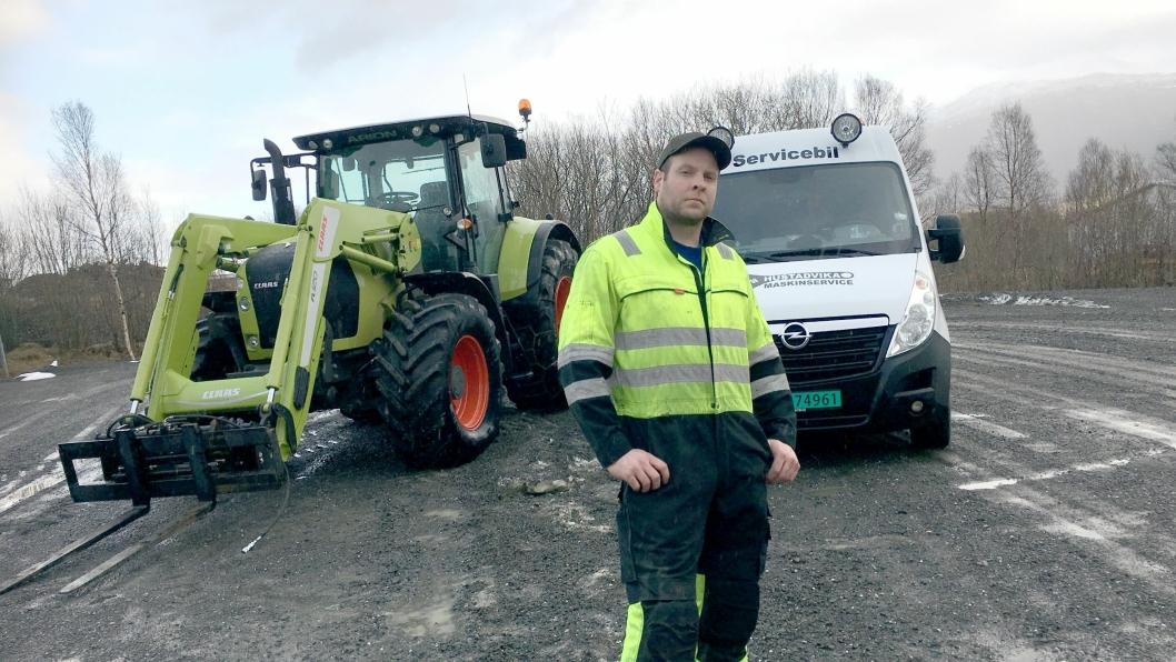 Odd Ingve Ødegård og Hustadvika Maskinservice blir ny servicepartner for Norwegian Agro Machinery.