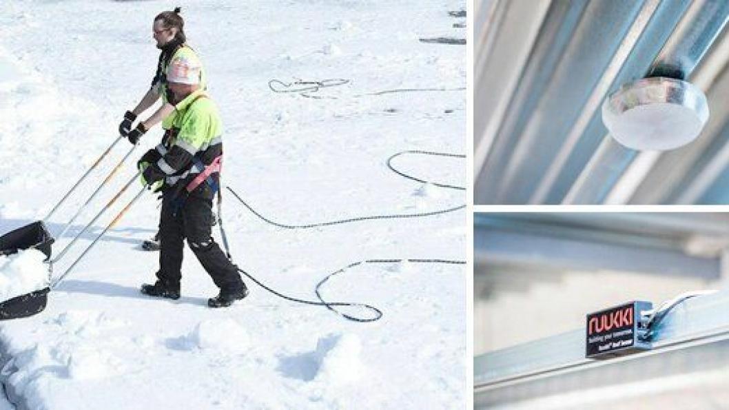 Ruukki lanserer et taksensorsystem, til sine selvbærende takplater, som overvåker snømengden på taket.