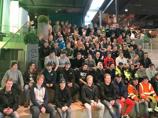 100 lærlinger var samlet på Hellerud 4.-5. februar for å lære og for å bygge nettverk.