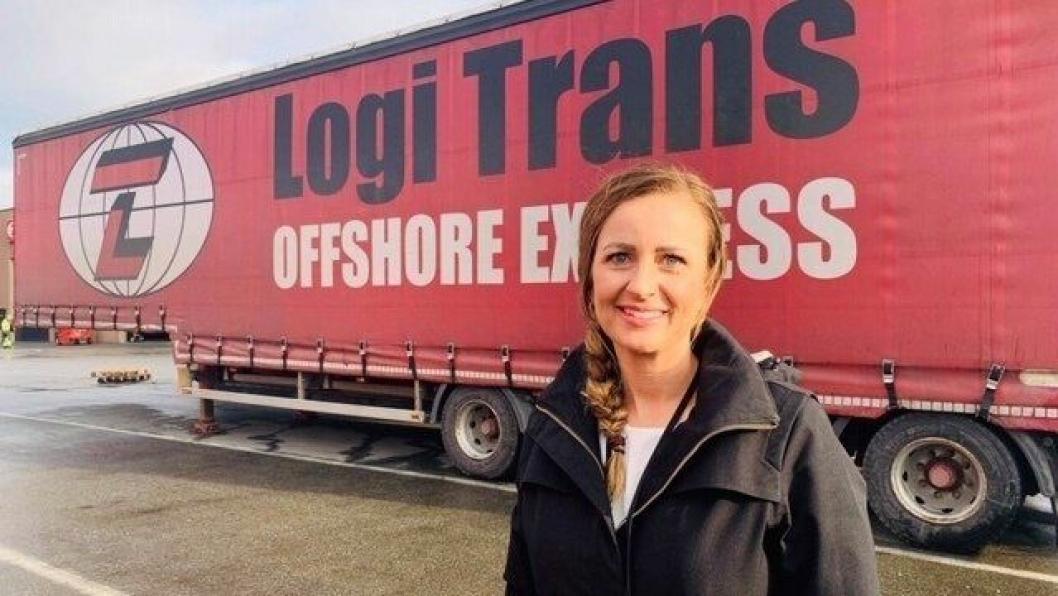 Cathrine Ogne leder Logi Trans fra sin base i Risavika.