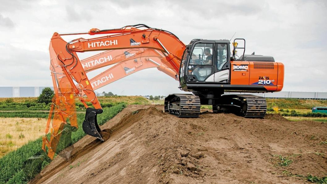 PRESIST: ZX210LCX-6 med maskinstyringssystemet ICT gjør gravearbeidet lettere og mer presist.