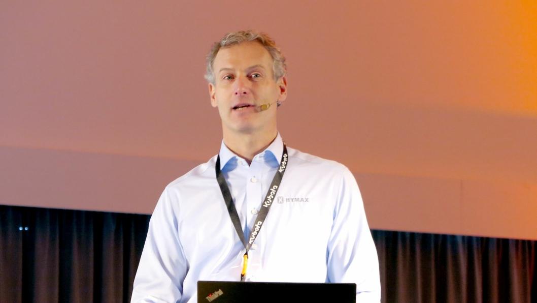 Adm. direktør Anders Henni varsler en rekke tiltak som skal styrke Hymax ytterligere som leverandør av maskiner under 10 tonn.