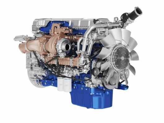 Den nye D13TC-motoren er Volvo Trucks' mest drivstoffeffektive motor til langtransport noensinne. Den har patenterte stempler som er bølgeformede innvendig, noe som øker effektiviteten, samt en ekstra turbin i eksosstrømmen kalt Turbo Compound.