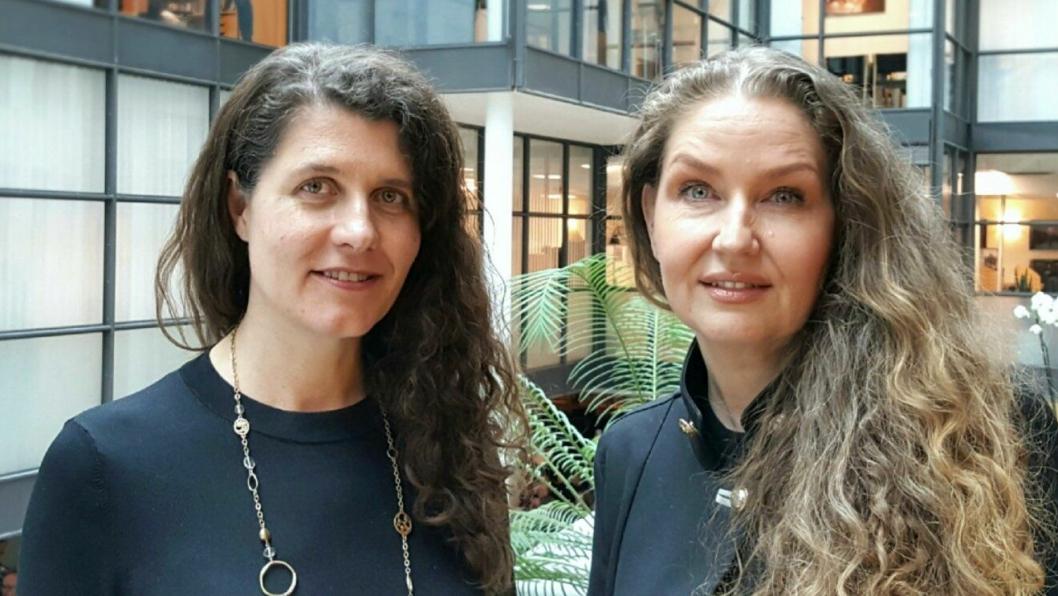 - Jeg gleder meg til å jobbe sammen med Katharina Bramslev og resten av det dyktige teamet, sier Hege Schøyen Dillner, til høyre på bildet.
