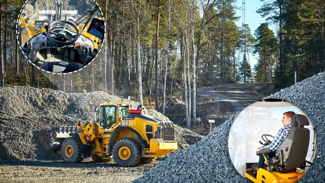 Telia, Ericsson og Volvo Construction Equipment tester Sveriges første 5G-nett for industriell bruk på Volvo CEs anlegg i Eskilstuna.