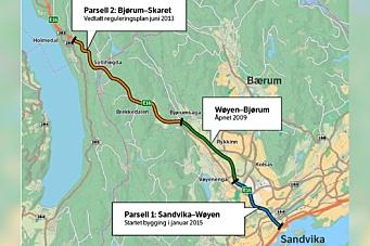 Siste storkontrakt på E16 fra Sandvika på anbud