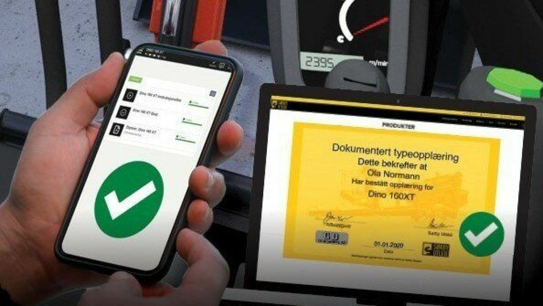 Digital opplæring skal gjøre det enklere å raskere å gjennomføre dokumentert typeopplæring på Sørby Utleies maskiner/lifter.