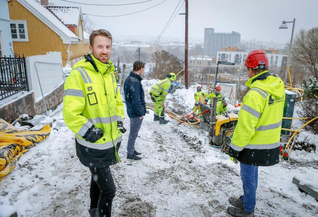 – EN VESENTLIG OVERGANG: Henrik Berntsen i Braathen Landskapsentreprenør snakker varmt om overgangen til SmartDok.