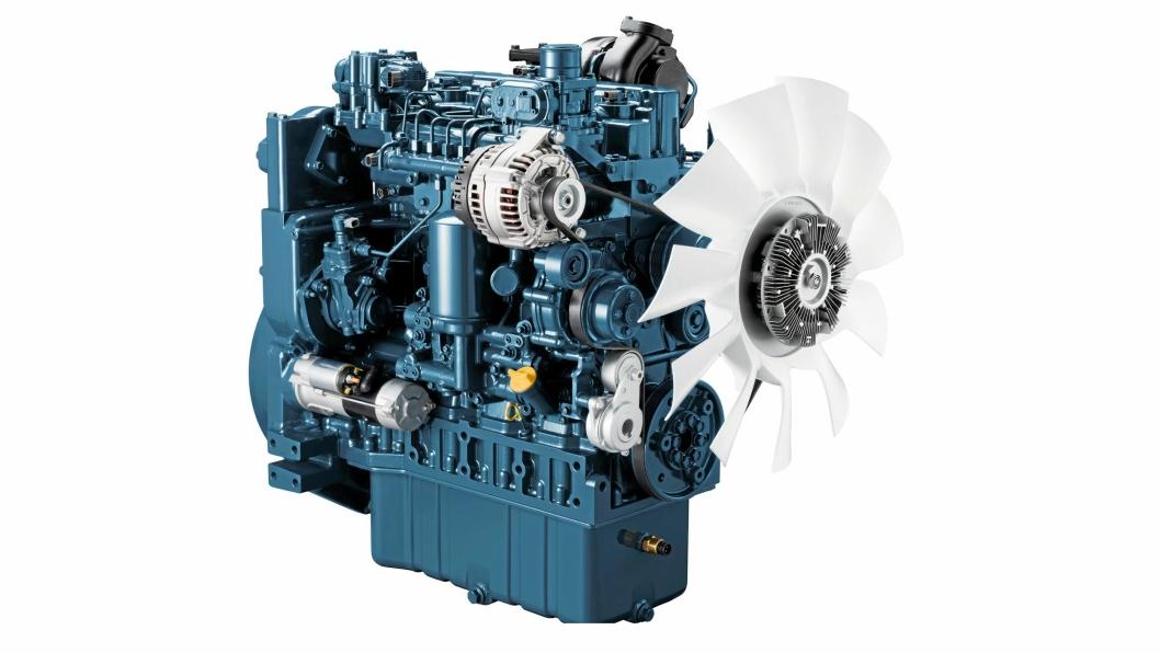 OMFATTENDE: Kubota tilbyr et omfattende motorprogram, ikke bare i sine egne maskiner, men også til andre leverandører. Dette er V5009 med et volum på 5 liter og effekt på 214 hk. Den skal lanseres tidlig neste år.