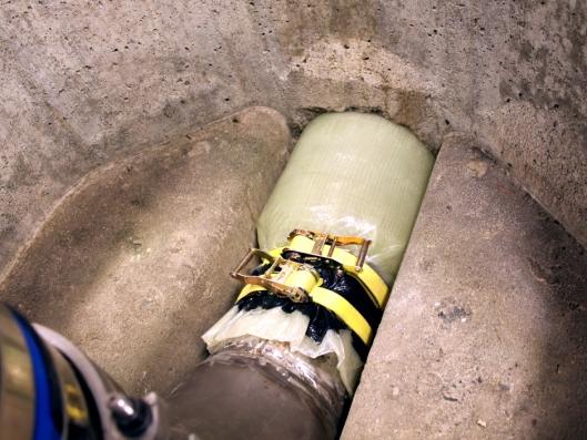 Inpipe strømpeforing er en komplett renoveringsmetode for avløpssystem, der det nye materialet vrenges inn i den skadde ledningen med trykkluft