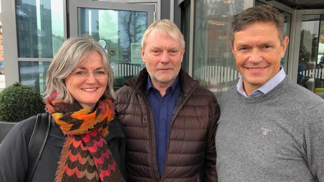 Nytilsatte regiondirektører i Spordrift AS. Fra venstre: Kristine Jessen (Nord), Stian Wesøy (Sør-vest) og Tore Fjukstad (Øst).