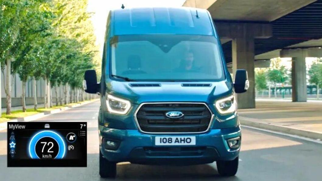 Ecoguide guider sjåføren av Ford varebiler til å kjøre mer økonomisk.