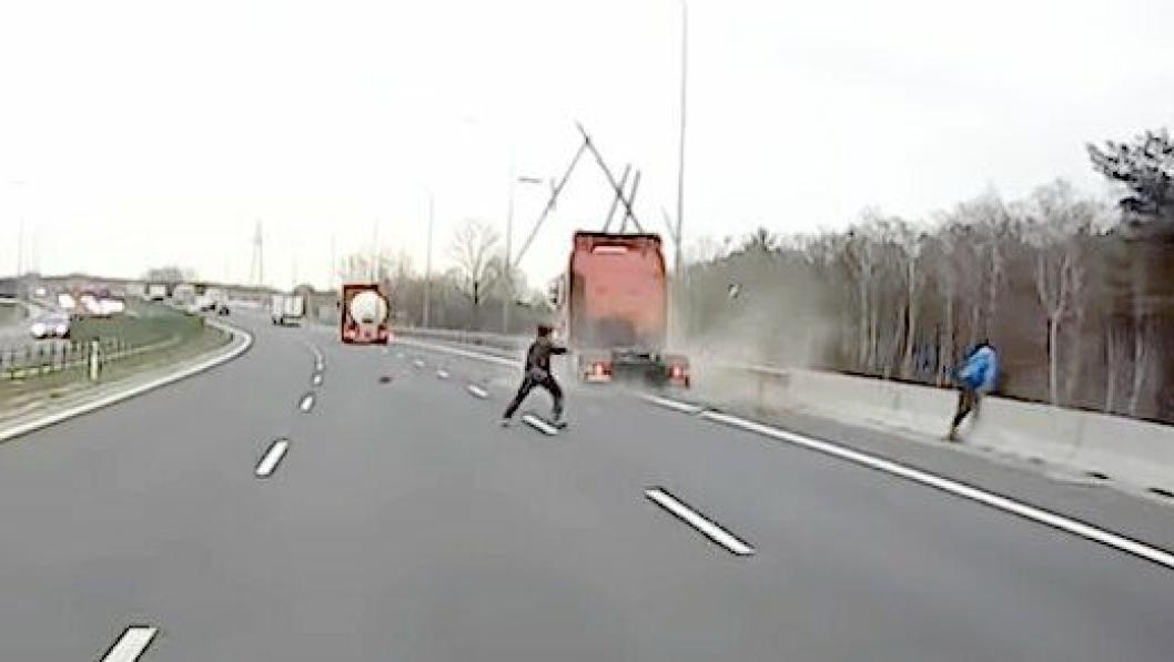 Pakjorsel S8 motorvei Polen mars 2019