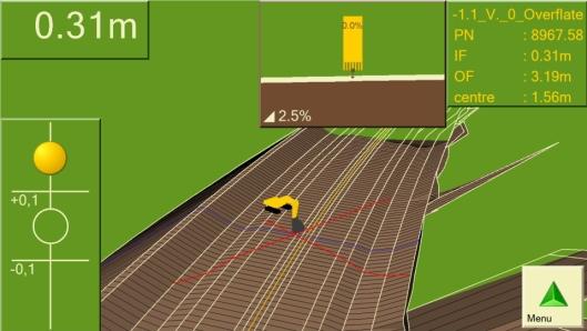 MODELL: DigPilot leser mange type prosjektfiler. Her en linjemodell fra en motorvei.