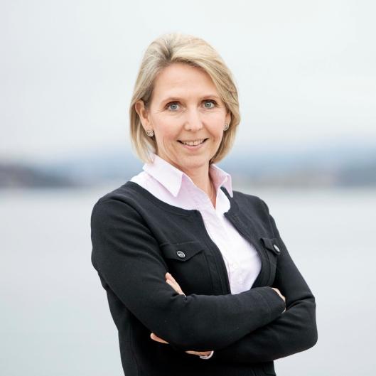 Direktør Irene Måsøval i Fornebubanen.