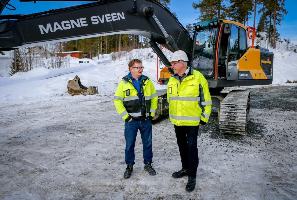 SAMARBEID: Entreprenøren Morten Sveen (t.v.) har samarbeidet med Jan Floberg og DigPilot i ni år.