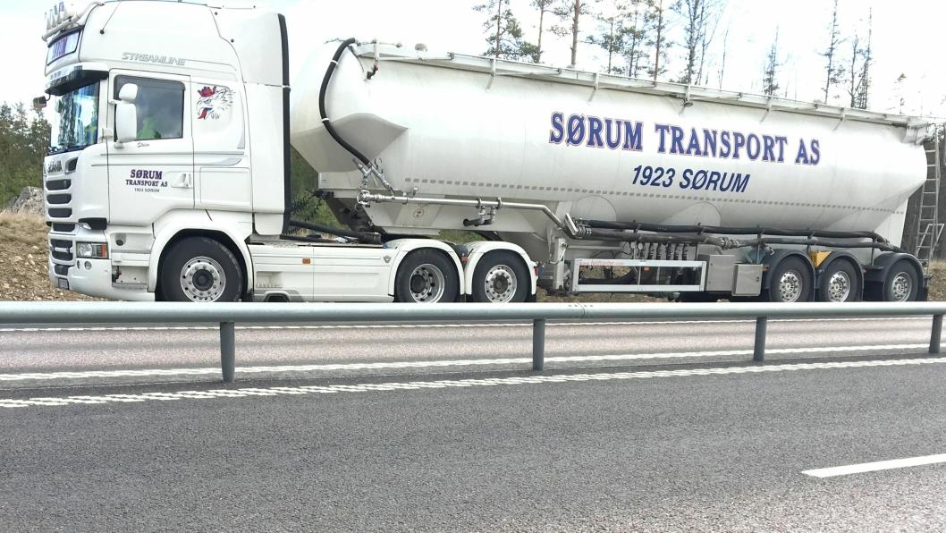 Denne bulktransporten ble tatt for ulovlig kabotasjekjøring i Sverige 27. mars 2019.