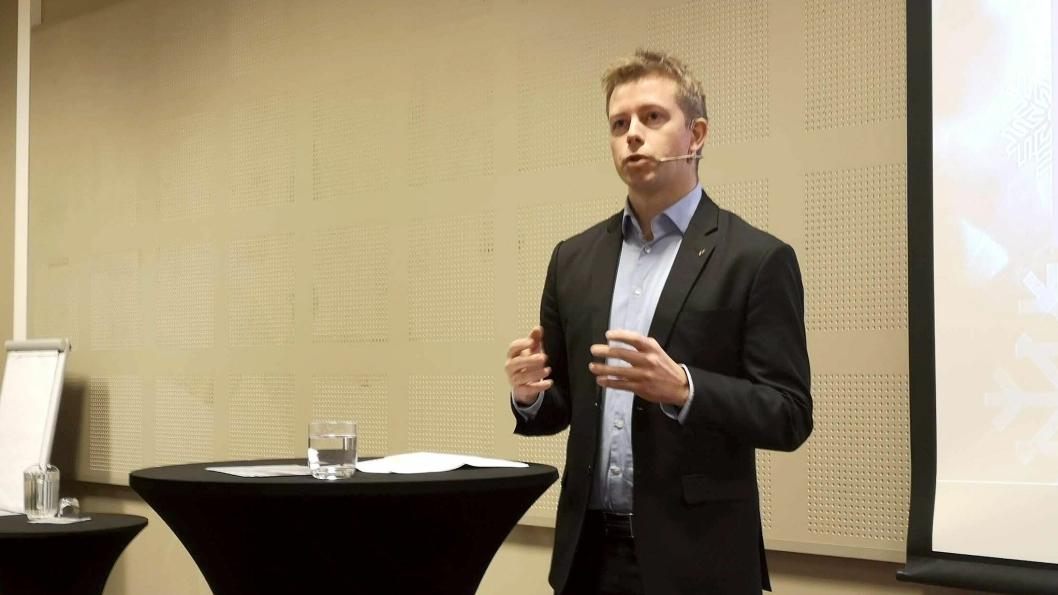 Under det uformelle EU-transportministermøtet i Romania nylig hadde statssekretær i Samferdselsdepartementet, Tommy Skjervold, et eget møte med svensk statssekretær for infrastruktur, Mathias Landgren.Arkivbilde fra Arctic Entrepreneur 2019.