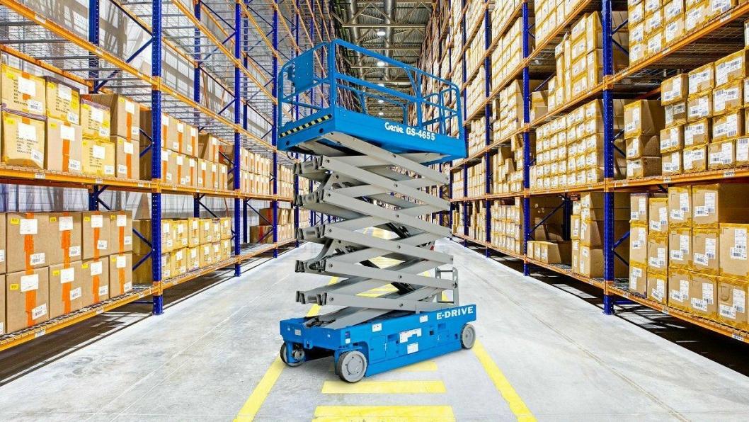 NYHET: Sakseliften GS -4655 har en innendørs arbeidshøyde på 16 m.