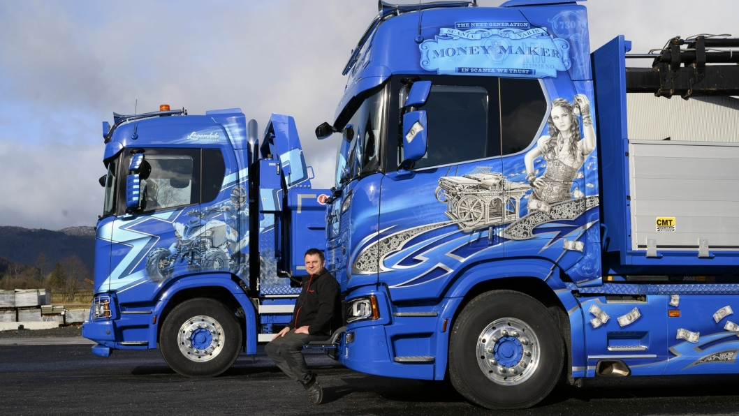 LAKKERT: Scania R730'en til Willy Solbjørg har Money Maker lakkert over døra. Det stemmer.